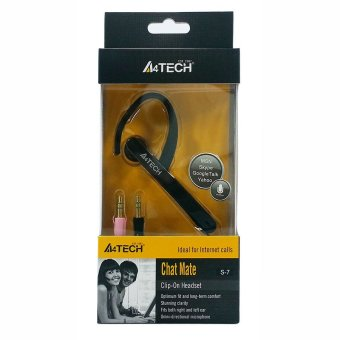 A4Tech S-7 Chat Mate Internet Headset for Windows Mac Linux Skype (Black) Price Philippines