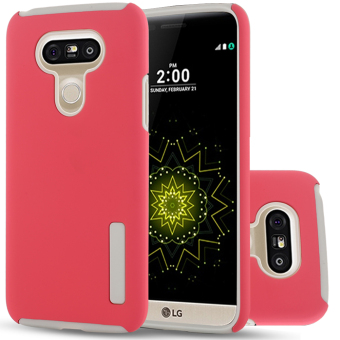 Harga RUILEAN TPU Protective Hard Kickstand Case for LG G5 (Red)