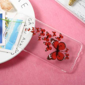Patterned TPU Clear Case Accessory for Samsung Galaxy S8 Plus - Red Butterflies - intl Price Philippines