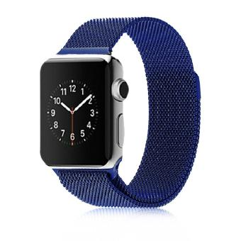 Stainless Steel Milanese Magnetic Loop Strap Watch Bands For Apple Watch iWatch 42mm - intl Price Philippines