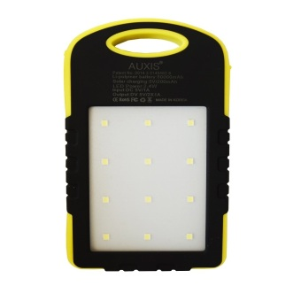 Harga Auxis Waterproof Solar 80000mAh LED Power Bank (Yellow)