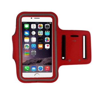 Armband Gym Running Sport Arm Band Cover Case For iphone 6 4.7 Inch Red - intl Price Philippines