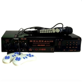 Harga HUG H58-132 Karaoke MIDI DVD Player with USB Port & Magic MIC