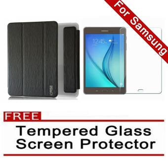 Harga iCase Slim Book Cover for Samsung Galaxy Tab A (2016) 7.0 (SM-T280 T285) (Black) with FREE Tempered Glass Screen Protector (Clear)