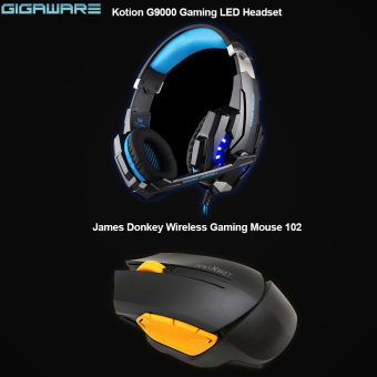 Harga Gigaware Laptop Gaming Kotion Each G9000 (Blue) + James Donkey Wireless Gaming Mouse 102 (Black)