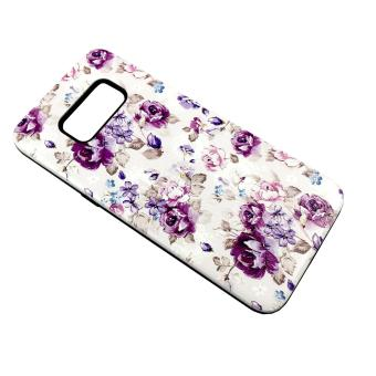 Harga DualPro Hard Shell PC Case with Floral Paint for Samsung Galaxy S8 #1