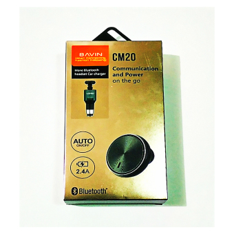 Bavin CM20 Mono Bluetooth Headset Car Charger (Gray) Price Philippines