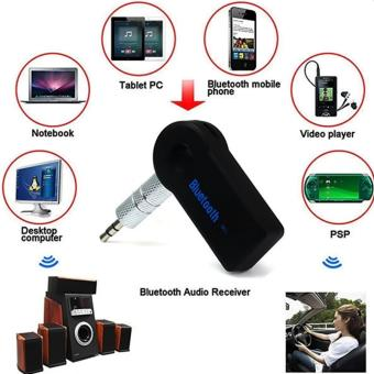 Harga HUG BT-310 Portable Bluetooth Car Music Receiver (Black)