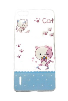 Harga Cat Footprints Design Clear TPU Case for Huawei Honor 6