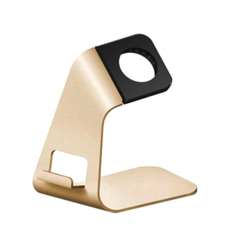 Aluminum Watch Stand Charging Dock for iWatch iPhone(Gold) - intl Price Philippines