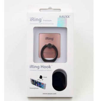 Original iRing Reusable 3-in-1 Safety Grip/Kickstand/Car Cradle for Smart Devices (Titanium Ring-Rose Gold) Price Philippines
