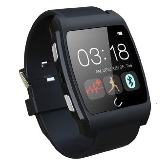 Uwatch UX Bluetooth Smart Wrist Watch Phone Mate For Android Samsung/iPhone(Black) Price Philippines