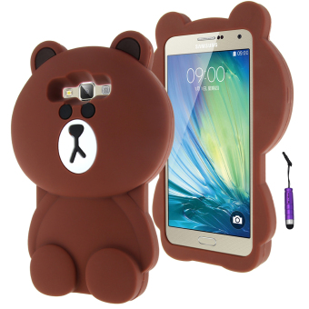 Moonmini 3D Lovely Bear Soft Silicone Back Case for Samsung Galaxy A7 (Brown) Price Philippines