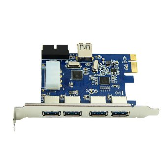 5 Ports PCI-E PCI Express Card to USB 3.0 + 19 Pin Connector 4 Pin Power for Win Price Philippines
