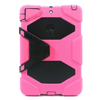 Harga Griffin Survivor Armored US Military-Grade Silicone Case with Stand for iPad Mini 1/2/3 (Hot Pink/Black)