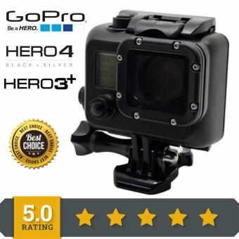 Harga New Arrive Gopro Waterproof Case 45M Underwater blackout Go Pro Diving Housing Case For Gopro Hero 3 Hero3 HERO 4 Dive Accessories Black GP28B