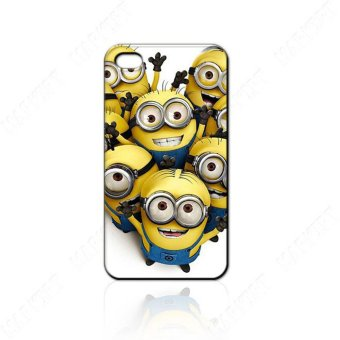 Harga Leegoal Yellow Despicable Me Pattern Snap On Hard Case Cover for IPhone4 4G 4S - intl