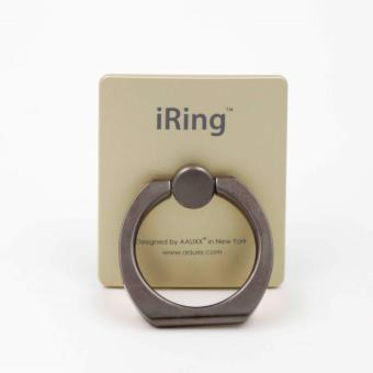 iRing Reusable 3-in-1 Safety Grip/Kickstand/Car Cradle for Smart Devices (Titanium/Gold) Price Philippines