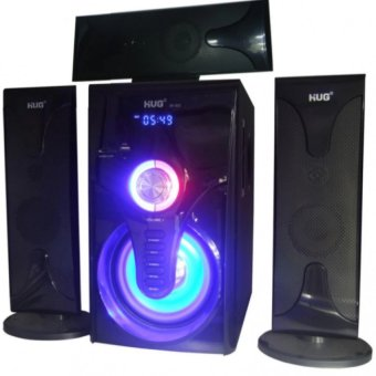 Harga HUG Music-302 3.1 Home Theater Subwoofer Speaker With USB/SD Slot & FM Radio (Black)