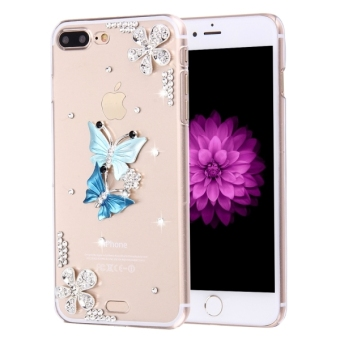 Fevelove For IPhone 7 Plus Diamond Encrusted Twin Butterflies Pattern PC Protective Case Back Cover, Small Quantity Recommended Before IPhone 7 Plus Launching Price Philippines