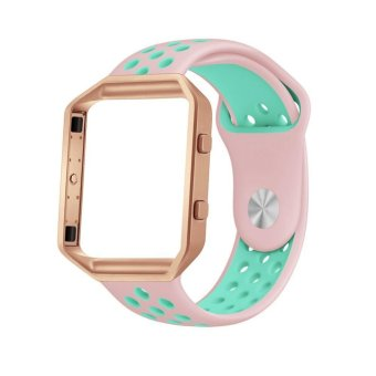 Ontube for Fitbit Blaze Bands, Sport Silicone Replacement Strap with Frame for Fitbit Blaze Smart Fitness Watch Frame included - intl Price Philippines