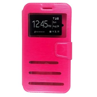 Harga FCH Faux Leather Flip Cover Case for Motorola Moto M(Pink)