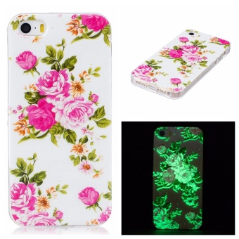 Luminous Effect TPU Phone Back Case Cover For iPhone SE 5SE 5 5S (Roses) - intl Price Philippines