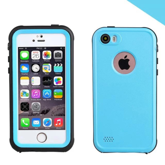 Waterproof Shockproof Dirtproof Full Body Case Cover for Apple iPhone SE 5SE 5 5S(Blue) - Intl Price Philippines