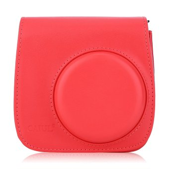 Harga Instax Mini 8 Leather Camera Case Shoulder Bag Cover for Fuji Polaroid (Red) - Intl