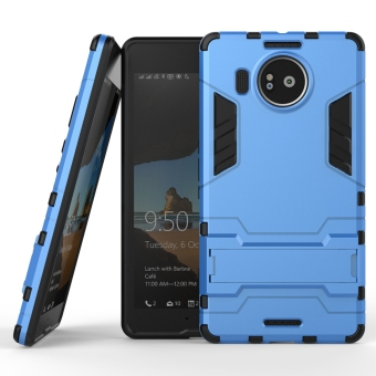 Harga RUILEAN Hybrid Armor Dual-Layer Shockproof Stand Case Cover for Microsoft Lumia 950 XL Blue