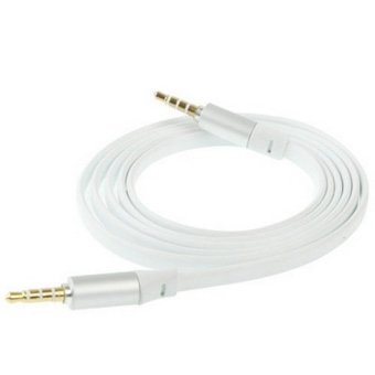 Harga Sunsky 1.2m Noodle Style 3.5mm Jack Earphone Cable for Monster Beats Studio / Pro / Mixr / Solo Hd (White)