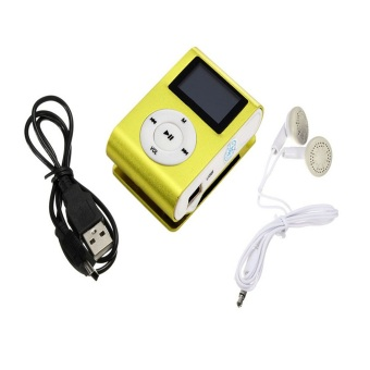 Harga USB Digital MP3 Player LCD Screen (Green)