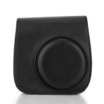 Harga Leather Camera Case Shoulder Bag Cover For Fuji Polaroid Mini 8 (Black)