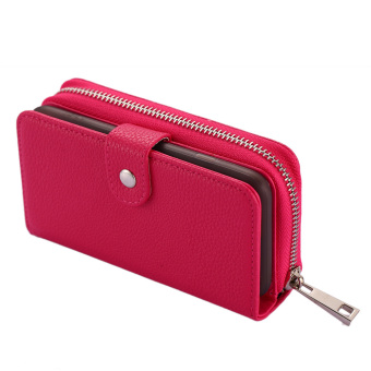Separable Zipper Wallet Phone Case for Iphone 6 (Red) - intl Price Philippines
