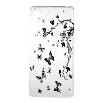 Transparent Slim TPU Soft Back Case Cover For Sony Xperia X (Butterflies) - intl Price Philippines