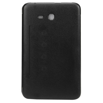 Leather Case Stand Cover For Samsung Galaxy Tab 3 T113 T116 Tablet Black(Black) - intl Price Philippines