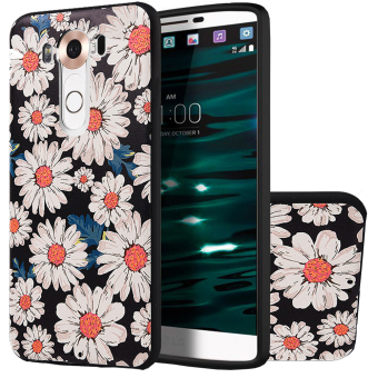 Harga RUILEAN Soft TPU Case For LG V10 SunFlower 3D Embossed Painting Series Protective Cover