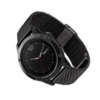 Milanese Stainless Steel GPS Watch Band Strap Bracelet For Garmin Fenix 5 Black - intl Price Philippines