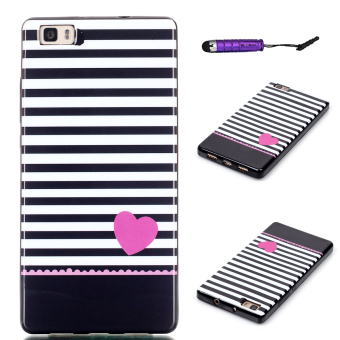 Moonmini Soft TPU Phone Back Case Cover for Huawei Ascend P8 Lite (Stripe ) Price Philippines