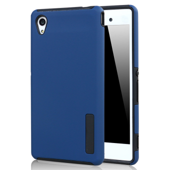 Moonmini Hybrid Combo Shockproof Back Case Cover for Sony Xperia M4 Aqua - Blue Price Philippines