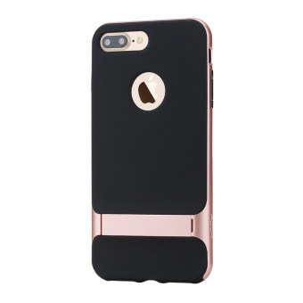 Harga ROCK Royce Series Kickstand PC + TPU Combo Case for iPhone 7 Plus - Rose Gold