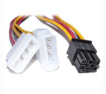 Dual Molex LP4 4 pin to 6 pin PCI-E Express Converter Adapter Power Cable Price Philippines