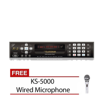 Platinum X2 Karaoke System (Black) with Free KS-5000 Microphone Price Philippines
