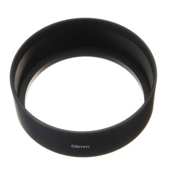 58mm Standard Screw Mount Metal Lens Hood for Canon Nikon Sony Pentax Olympus Price Philippines