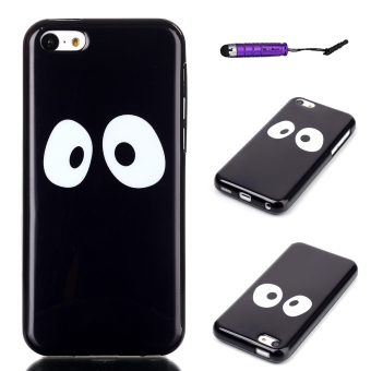 Moonmini TPU Eyes Back Case for Apple iPhone 5C (Black) - Intl Price Philippines