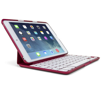 Mini F2S Wireless Bluetooth Keyboard Case for Ipad Mini1/ IpadMini2/Ipad Mini3 with 7 Colour Backlight and Smart Cover (Red) - intl Price Philippines
