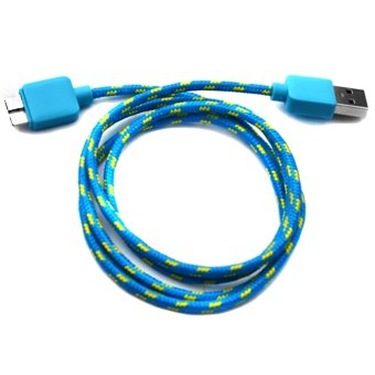Woven Fabric Data Cable for Samsung Galaxy Note 3 (Blue) Price Philippines