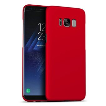 Harga LUOWAN Galaxy S8 Case Smoothly Skin Shockproof Ultra Thin Slim Full Body Protective Cover For Samsung S8 5.8-inch(Red)