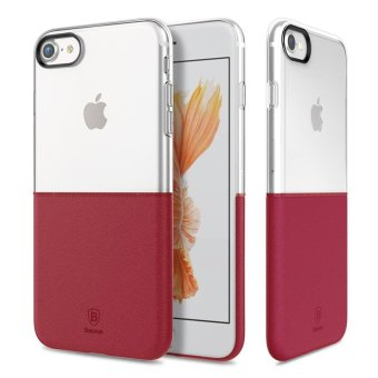 Harga BASEUS Half to Half PC + TPU Hybrid Cover for iPhone 7 4.7 - Wine Red - intl