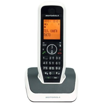 Harga Motorola S2001 Single Handset Cordless Phone (White/Black)